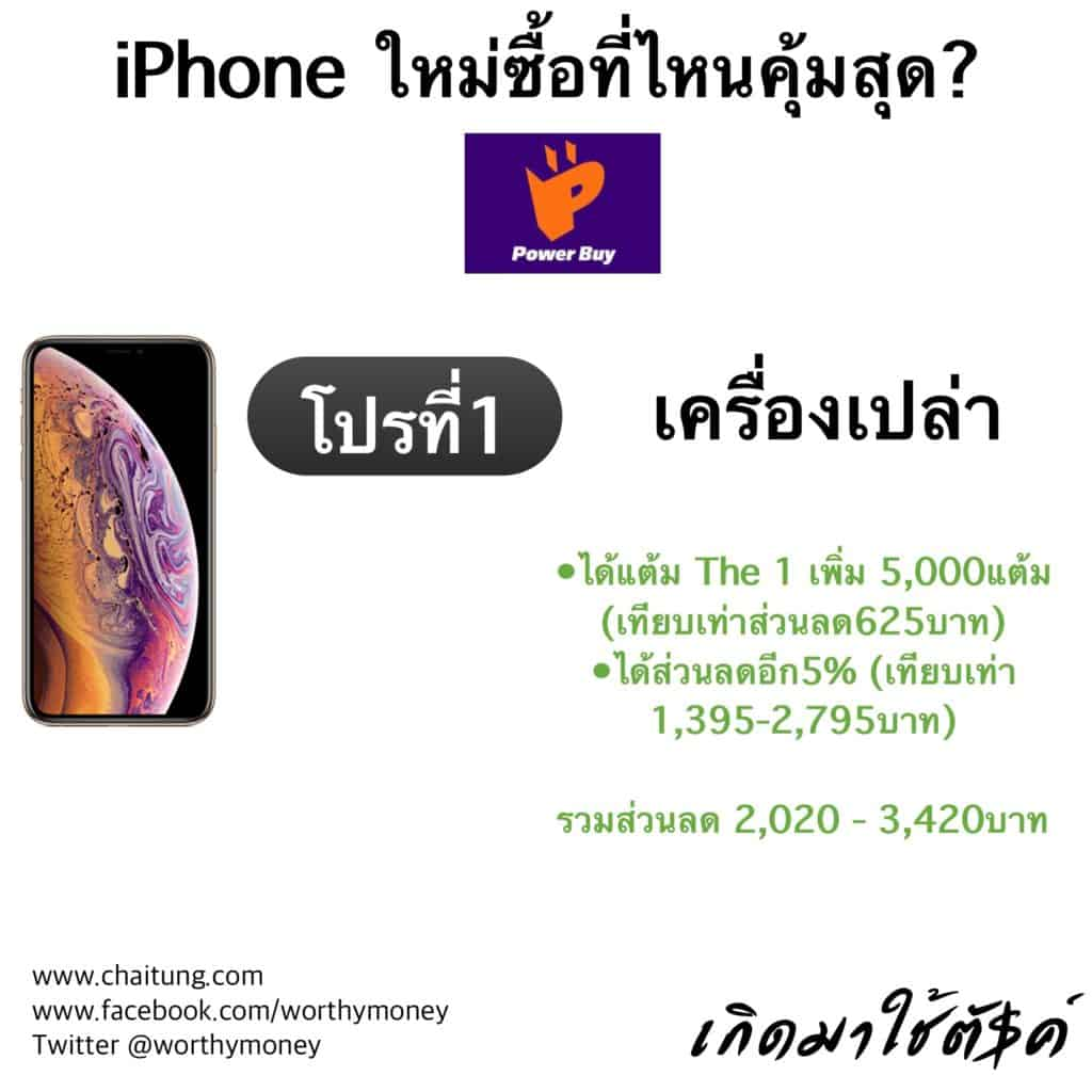 iPhone Xs , Xs MAX , Xr Powerbuy